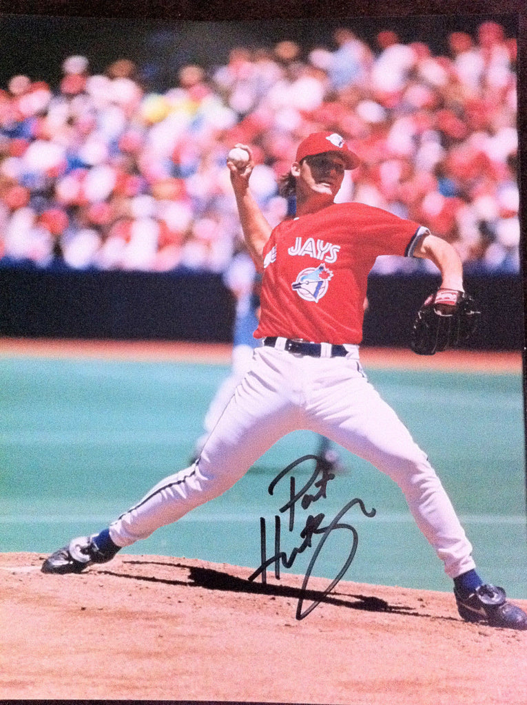 MLB PAT HENTGEN AUTOGRAPHED 8X10 PHOTO TORONTO BLUE JAYS 1996 CANADA DAY