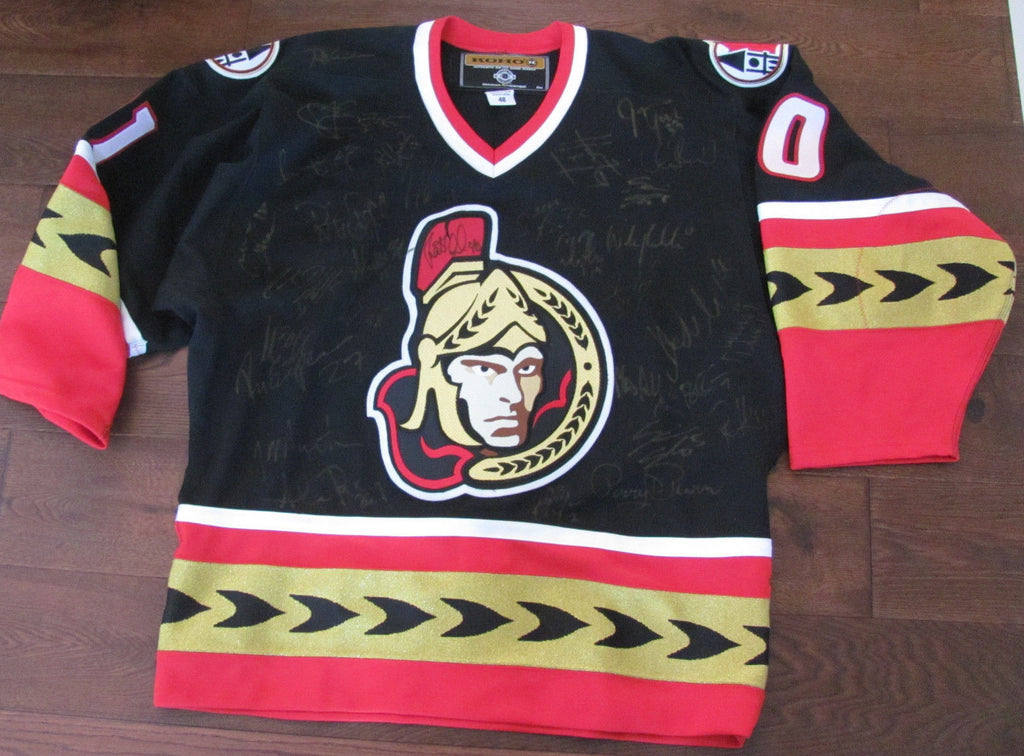 check out 91939 6179c NHL OTTAWA SENATORS TEAM AUTOGRAPHED KOHO AUTHENTIC JERSEY, 2000-2001 SEASON