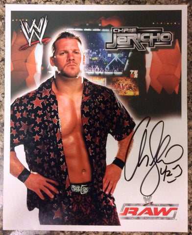 WWE CHRIS JERICHO, Y2J, AUTOGRAPHED 8X10 PHOTO, EARLY 2000's, RAW