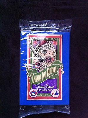MLB TORONTO BLUE JAYS/MONTREAL EXPOS TRIVIAL PURSUIT CARDS, CANADA DAY 1997, UNOPENED PACK