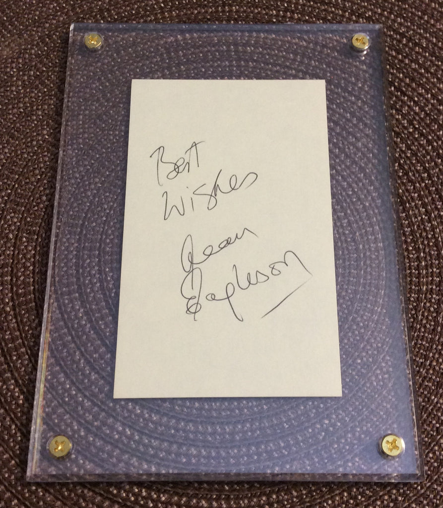NHL ALAN EAGLESON AUTOGRAPH IN 5 X 7 SCREW DOWN HOLDER