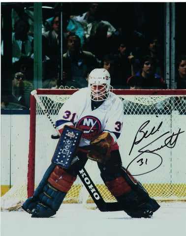 NHL NEW YORK ISLANDERS BILLY SMITH AUTOGRAPHED 8X10 PHOTO