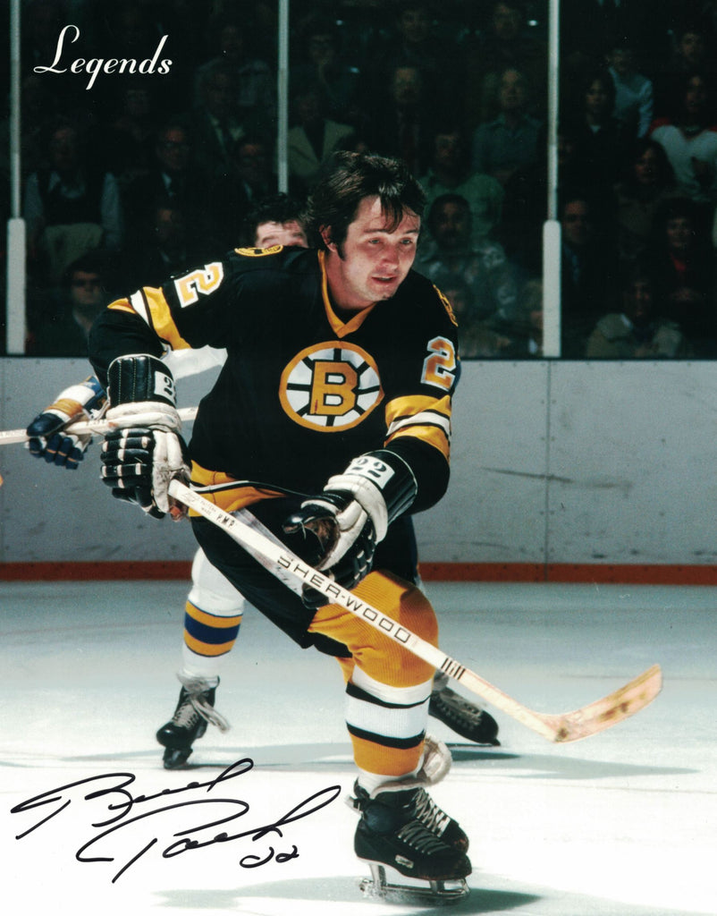 NHL BOSTON BRUINS BRAD PARK AUTOGRAPHED 8X10 PHOTO