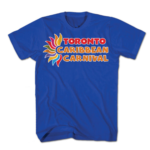 TORONTO CARIBBEAN CARNIVAL OFFICIAL T-SHIRT, HORIZONTAL LOGO (ADULT S - XXL, 4 COLORS AVAILABLE)