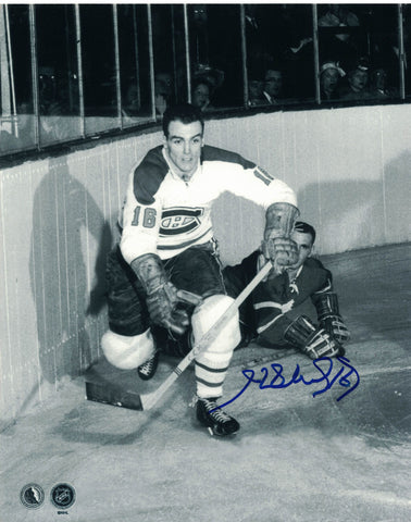 NHL MONTREAL CANADIENS HENRI RICHARD AUTOGRAPHED 8X10 BLACK/WHITE PHOTO