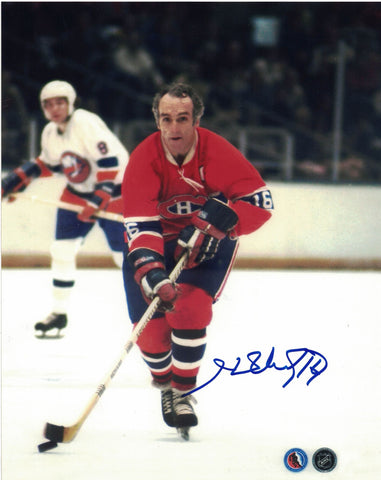 NHL MONTREAL CANADIENS HENRI RICHARD AUTOGRAPHED 8X10 PHOTO