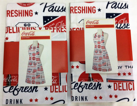 COCA-COLA (COKE) FULL APRON (SET OF 2)