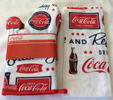 COCA-COLA (COKE) OVEN MITT SET, TEA TOWEL, APRON