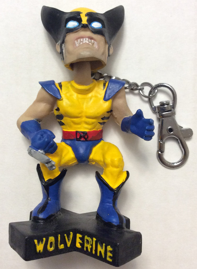 "MARVEL WOLVERINE 4"" BOBBLEHEAD KEYCHAIN/CLIP ON, CIRCA 2002, PRODUCTION SAMPLE, NEW"