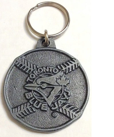 MLB TORONTO BLUE JAYS, METAL KEYCHAIN, 20TH SEASON, CIRCA 1996