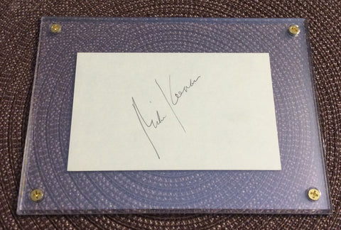 NHL MIKE KEENAN, PHILDELPHIA FLYERS, AUTOGRAPH IN 5 X 7 SCREW DOWN HOLDER