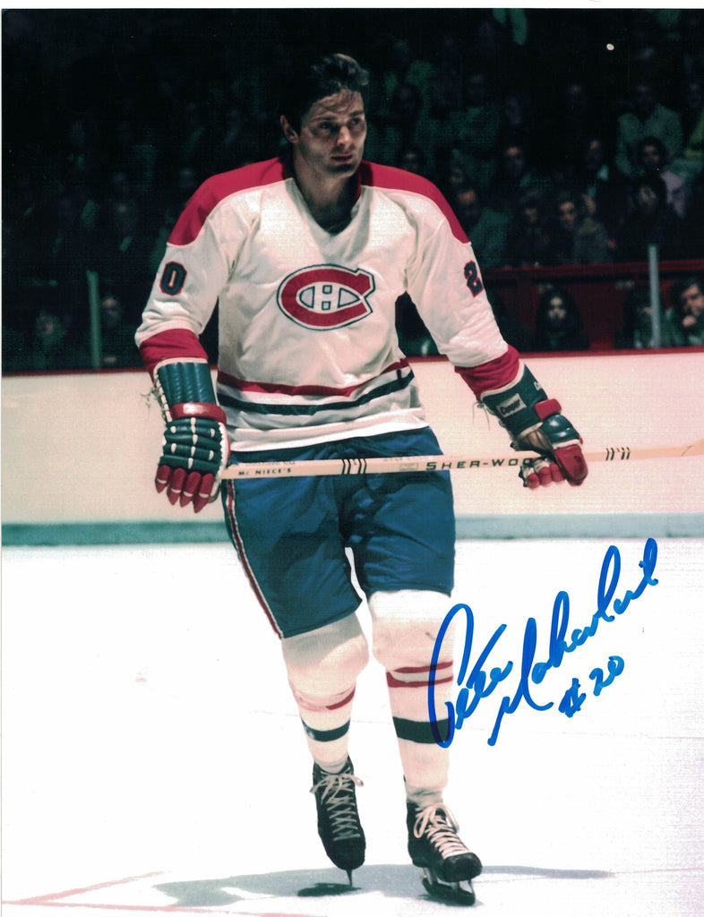 NHL MONTREAL CANADIENS PETE MAHOVLICH AUTOGRAPHED 8X10 PHOTO