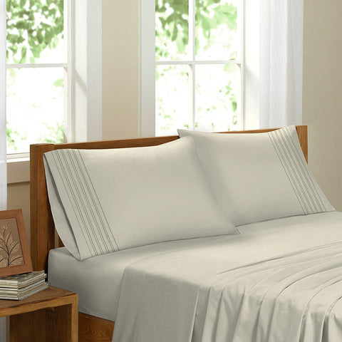 Swiss Collection Luxury 3600 Series Egyptian Comfort Sateen Sheet Set - Ivory