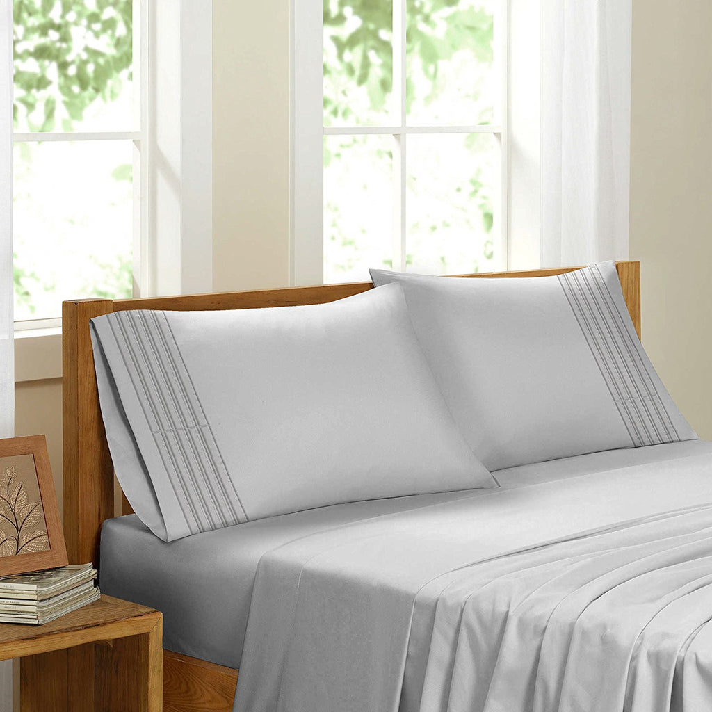 Swiss Collection Luxury 3600 Series Egyptian Comfort Sateen Sheet Set - White