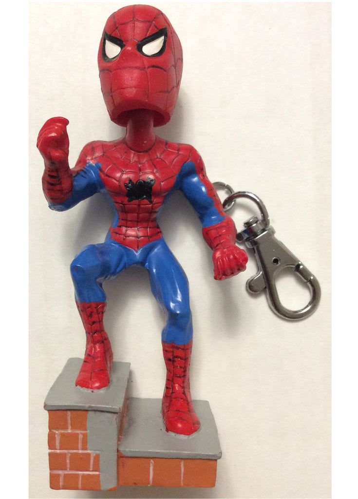 "MARVEL SPIDERMAN 4.5"" BOBBLEHEAD KEYCHAIN/CLIP ON, CIRCA 2002, PRODUCTION SAMPLE, NEW"