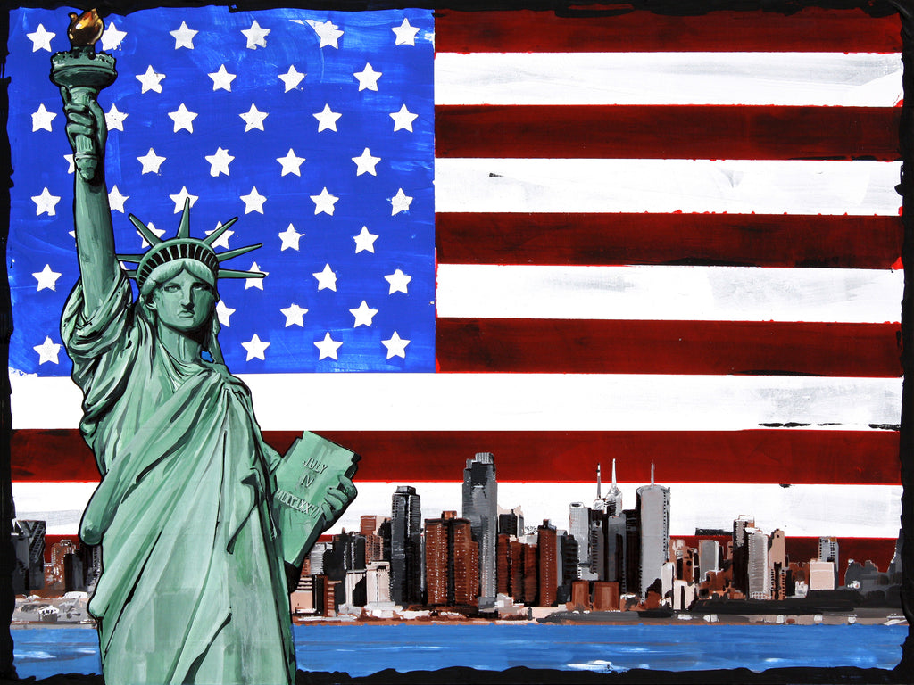 (2ND IN SERIES) STATUE OF LIBERTY 12 X 18 (INCHES) EXCLUSIVE LIMITED EDITION METAL PRINT