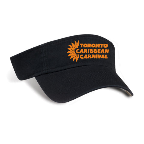 TORONTO CARIBBEAN CARNIVAL COTTON VISOR HORIZONTAL LOGO (6 COLORS AVAILABLE)
