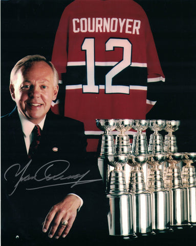 NHL MONTREAL CANADIENS YVAN COURNOYER AUTOGRAPHED 8X10 PHOTO, 10 STANLEY CUPS