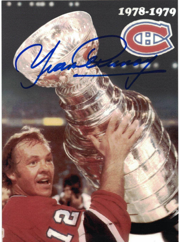 NHL MONTREAL CANADIENS YVAN COURNOYER AUTOGRAPHED 5X7 PHOTO, STANLEY CUP 1978-79