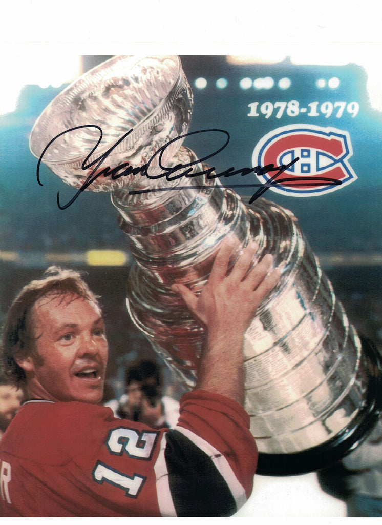 NHL MONTREAL CANADIENS YVAN COURNOYER AUTOGRAPHED 8X10 PHOTO, STANLEY CUP 1978-79