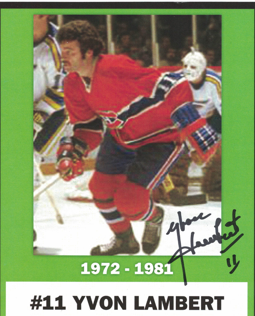 NHL MONTREAL CANADIENS YVON LAMBERT AUTOGRAPHED 5X6 PHOTO