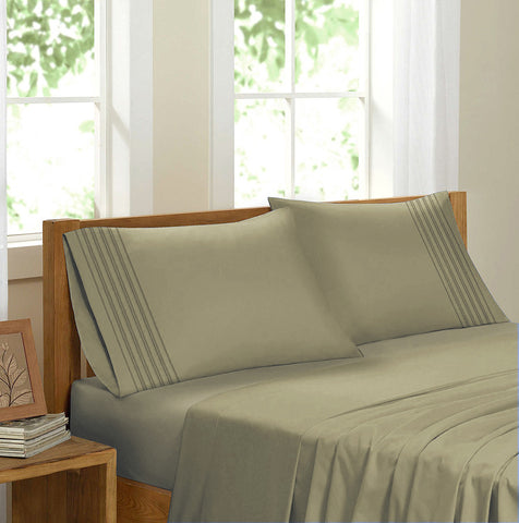 Swiss Collection Luxury 3600 Series Egyptian Comfort Sateen Sheet Set - Sage Green