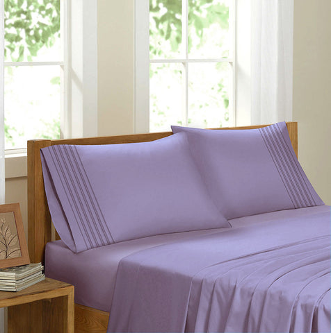 Swiss Collection Luxury 3600 Series Egyptian Comfort Sateen Sheet Set - Mauve