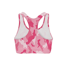Load image into Gallery viewer, Pink Camo Sports Bra
