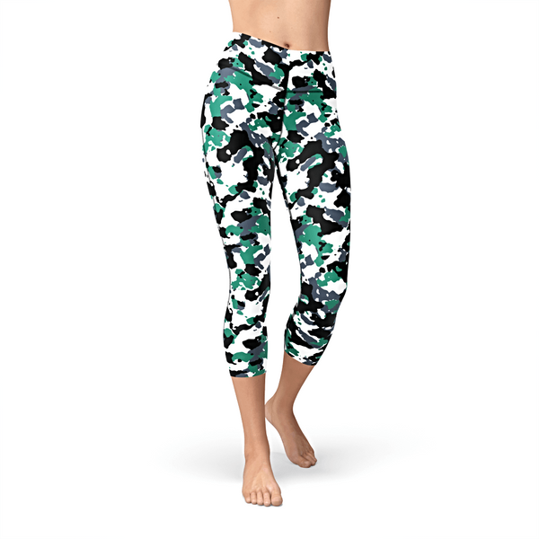 Nellie Yoga Green White Camo