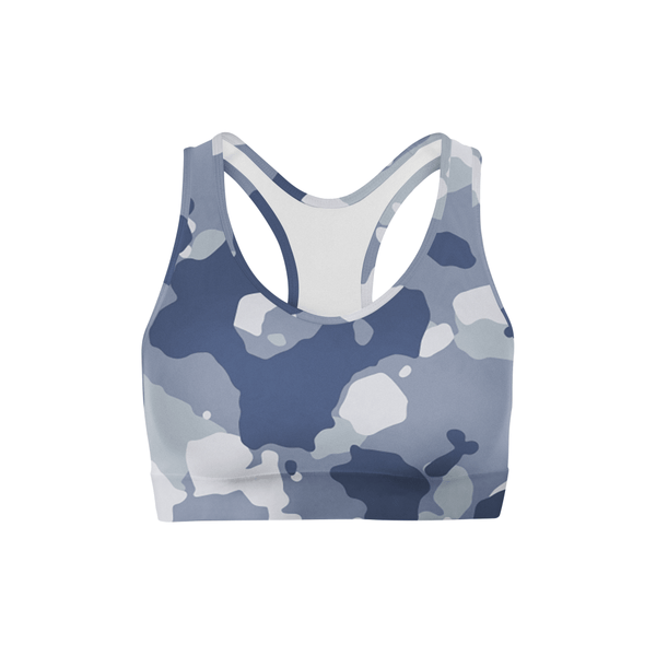 Dark Blue Camo Sports Bra