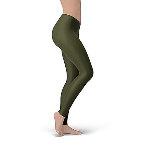 Solid Olive Buttery Soft Leggings