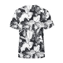 Load image into Gallery viewer, Men's Black White Leaves T-Shirt