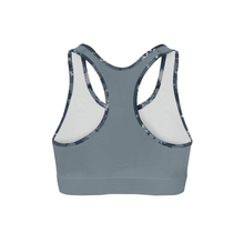 Load image into Gallery viewer, Digital Blue Camo Back Color Sports Bra