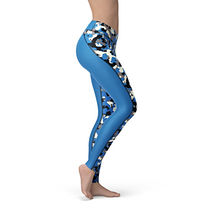 Load image into Gallery viewer, Catrina Blue Camo leggings