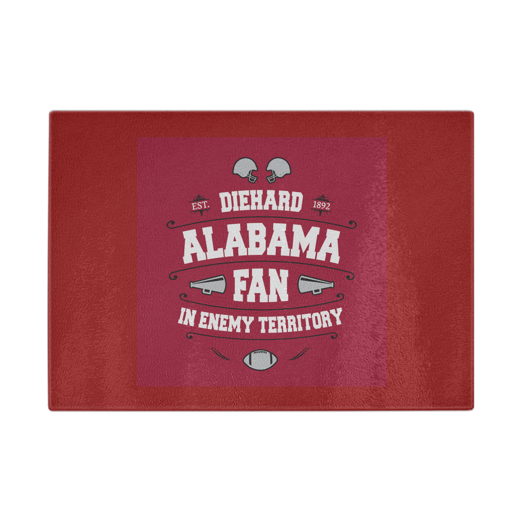Alabama Die Hard Cutting Board