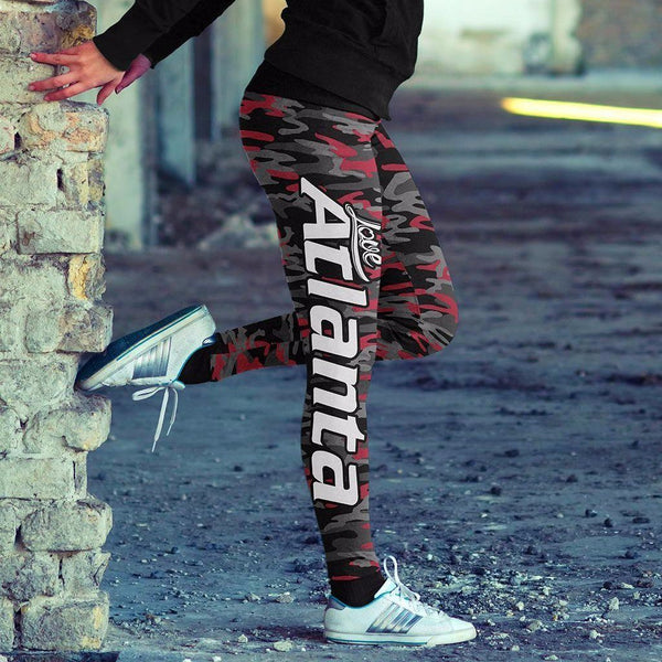Atlanta Football Camo Leggings