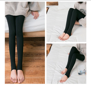 Attention Ladies : Winter Warm Fleece Lined Pantyhose All Natural Look ! One Size Fits Most