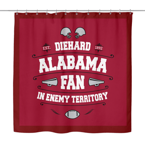 Alabama Die Hard Shower Curtain