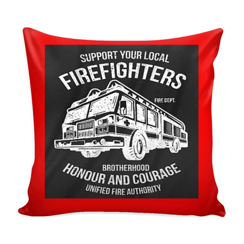 Fire Fighter Local Pillow Cover