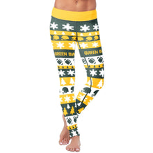 Load image into Gallery viewer, Green Bay Ugly Christmas Classic Football Leggings