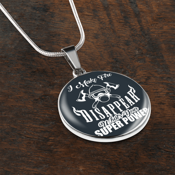 Fire Fighter Super Power Necklace