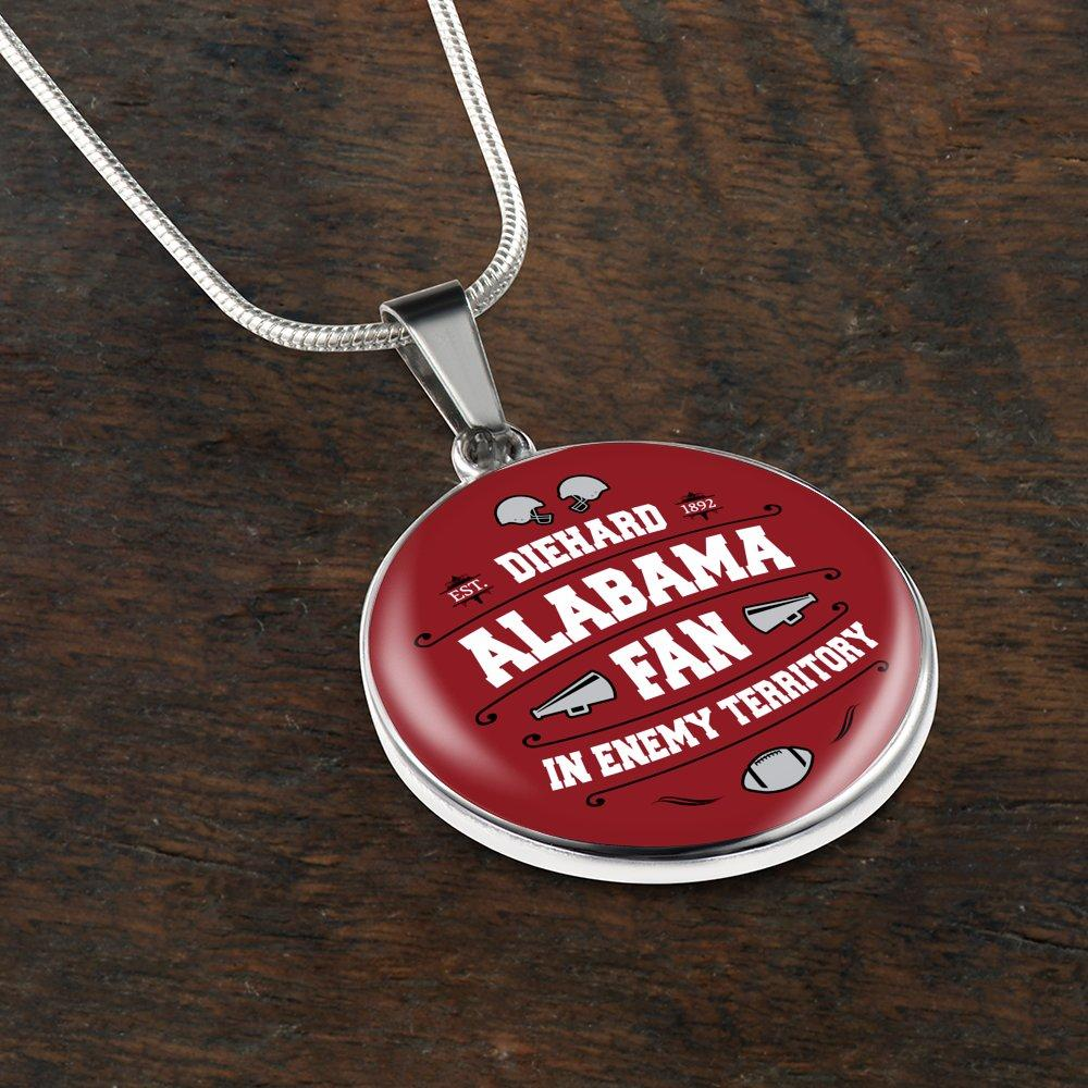 Die Hard Alabama Fan In Enemy Territory Necklace