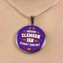 Load image into Gallery viewer, Clemson Die Hard Fan Necklace
