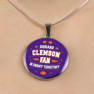 Clemson Die Hard Fan Necklace
