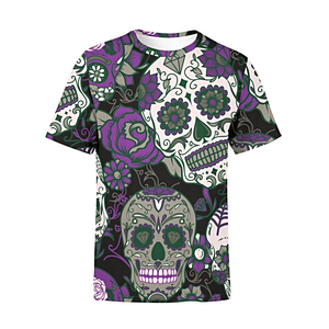 Men's Purple Sugar Skulls T-Shirt