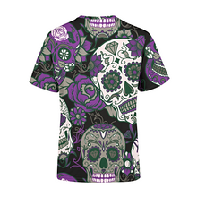 Load image into Gallery viewer, Men's Purple Sugar Skulls T-Shirt