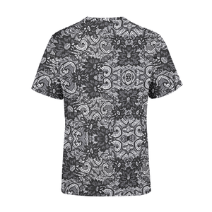 Men's Black Lace T-Shirt