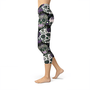 Nellie Yoga Purple Sugar Skulls