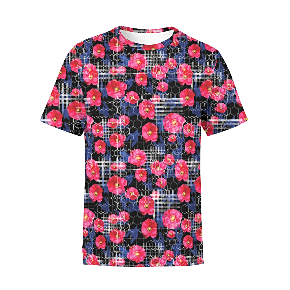 Men's Digital Flowers T-Shirt