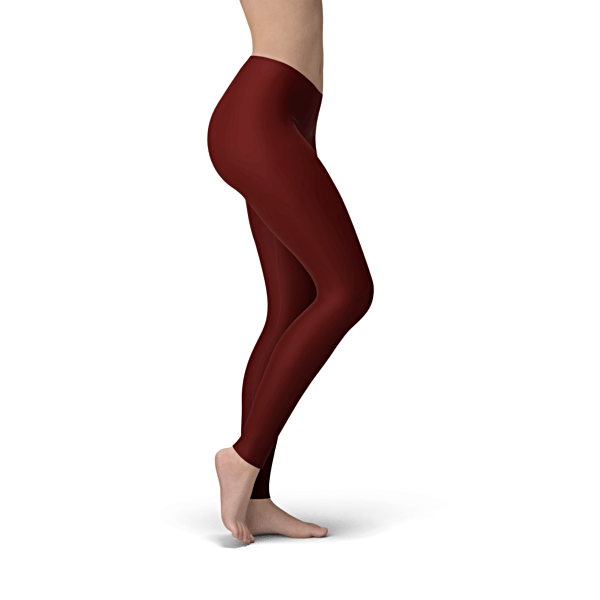 Solid Burgundy Buttery Soft Leggings